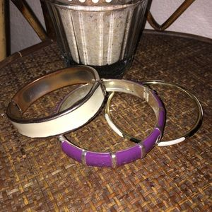 🎀5/$25🎀 MACY'S Bundle of Gold & Purple Bangles